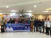 Tiba Dibanjarmasin,Kontingen HPN 2020 PWI dan SMSI Kota Tangerang Disambut Pakaian Adat